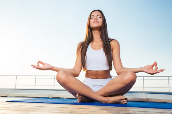 relaxed woman meditating 9